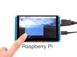800x480 capacitive HDMI touchscreen with USB controller for multi-touch